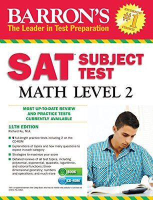 Barrons Sat Subject Test Math Level 2 With Cd Rom