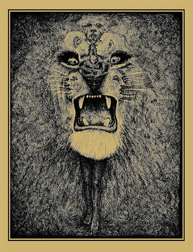 Lee Conklin Santana Lion Scarce Gold Art Print Signed Numbered Edition of 75
