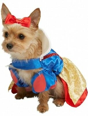 Pet Dog Cat Disney Snow White Princess Fancy Dress Costume Outfit - Dog Snow White Costume