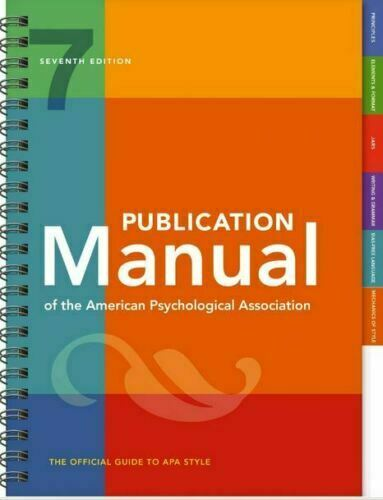 Publication Manual Of The American Psychological Association 7th Edition [P-D-F]