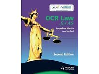 OCR Law for AS, Martin, Jacqueline Paperback Book