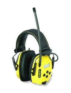 NEW Stanley SYNC Digital AM/FM/MP3 Radio Noise Reduction Earmuffs Headphones