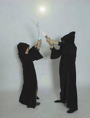 Umhang schwarz braun Kostüm Kinder Mittelalter Vampir Zauberer (Kind Schwarze Ritter Kostüme)