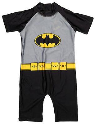 Jungen Kinder Batman UV Anzug Badehose Badehose Alles in Eins Alter 1 2 3 4 5