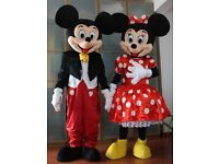 UK SELLER Brand New look alike Micky & Minnie Mouse Costume fancy dress for £125 plus £!3 post