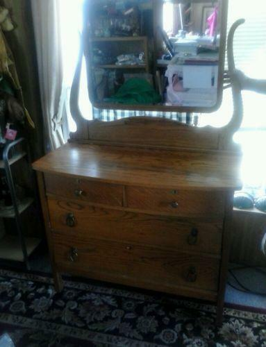 Antique Oak Dresser Mirror Ebay