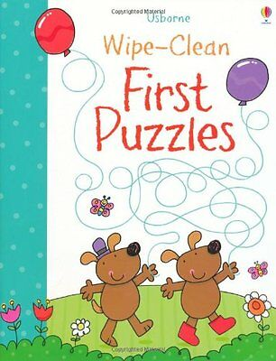Wipe-Clean First Puzzles (Usborne Wipe Clean Books),New Condition
