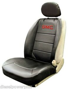 Gmc General Motors Truck Car Black Sideless Embroidered