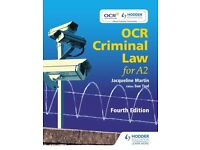 OCR Criminal Law for A2 Fourth Edition (Paperback), Martin, Jacqu. 9781471807060