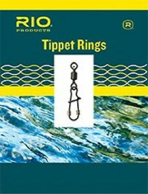 2mm Round Tippet Rings 10-Pack on Long Neck Barrel Swivel