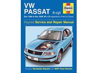 New sealed Haynes 3917 manual for Volkswagen Passat (Bath)