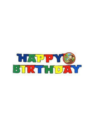 Fantastic Curious George Birthday Greeting Cards Amp Party Supply Ebay Personalised Birthday Cards Veneteletsinfo