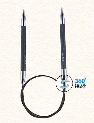 Knitpro Rundstricknadel fixiert  Royale 360° drehbares Seil 3-12mm, 40-150cm NEU