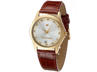 BRAND NEW,,Yves Camani Gold Plated Twinkle Women's Quartz Watch