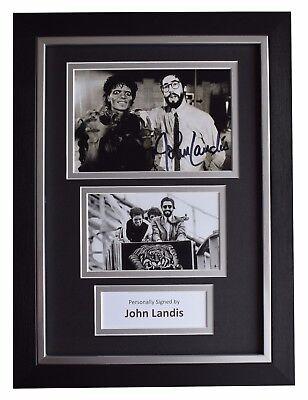 John Landis SIGNED A4 FRAMED Autograph Photo Display Film Director Thriller COA