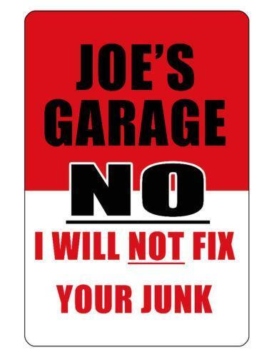 Personalized Garage Signs For Automotive : Personalized garage sign ebay