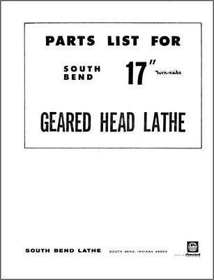 South Bend 17 Inch Turn-nado Parts Manual
