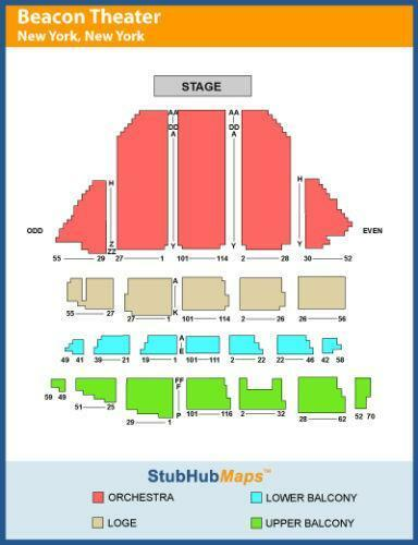 Beacon theatre seating chart ebook for Apt theater schedule