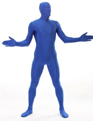 Deluxe Blue Skintight Bodysuit Morphsuits Size XXL (Blue Morph Suits)