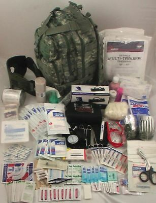 Best NEW LEVEL 3 MILITARY FIRST AID SURVIVOR TACTICAL TRAUMA MEDICAL EMERGENCY KIT NEW