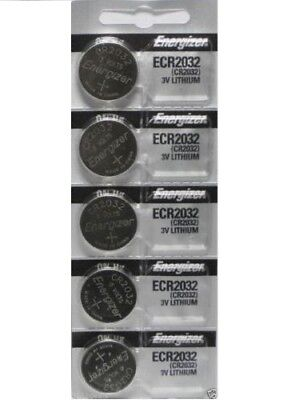 Lot of 5 PC ENERGIZER CR2032 WATCH BATTERIES 3V CR 2032 DL2032 BR2032