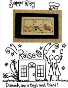 Raise The Roof Cross Stitch