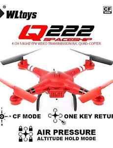 QWG Wltoys Q222G Red Air Pressure Hovering Set High RC Quad Cambridge Kitchener Area image 1