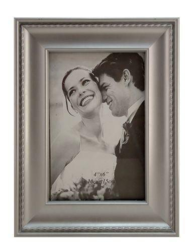 silver picture frames 4x6 ebay. Black Bedroom Furniture Sets. Home Design Ideas