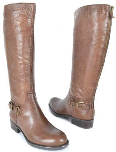 womens brown leather knee high boots ebay