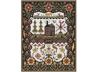 10/% Off Long Dog Samplers counted X-stitch chart The Black House