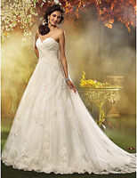 A-line, princess tulle Wedding dress