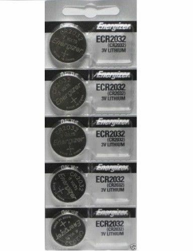 Lot of 5 PC ENERGIZER CR2032 WATCH BATTERIES 3V LITHIUM CR 2