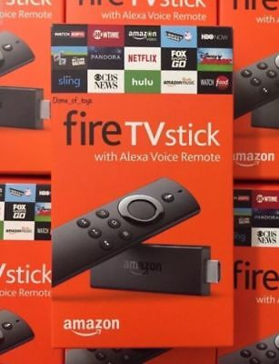 AMAZON FIRE STICK W/ALEXA VOICE REMOTE NEWEST 2ND GENERATION AMAZON FIRE TV BOX