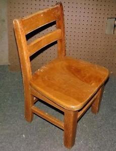 Vintage Childs School Chair