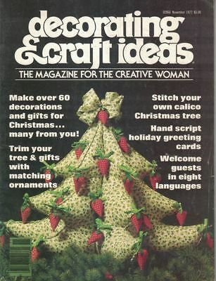 Decorating & Crafting Ideas Nov 1977 Ornaments Gifts Trim the Trees Christmas](Christmas Gift Craft Ideas)