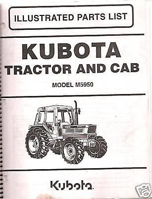 Kubota M5950 Tractor Cab Parts Manual