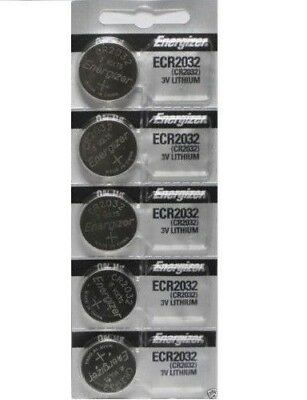 5 pc cr2032 watch batteries 3v lithium