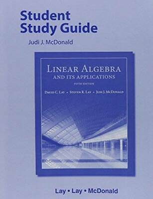 Student Study Guide for Linear Algebra and Its Applications - Paperback - (Linear Algebra And Its Applications Study Guide)