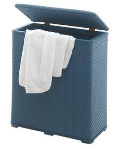 Cesto portabiancheria accessori bagno ambrogio azzurro ebay for Portabiancheria bagno