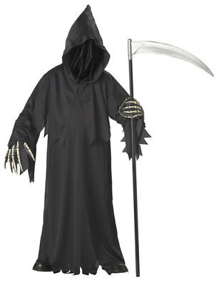 Deluxe-kids Kostüme (Grim Reaper Deluxe Kids Halloween Costume)
