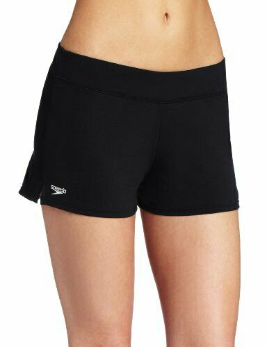 Speedo Women's Swim Short Black Board Shorts, 14
