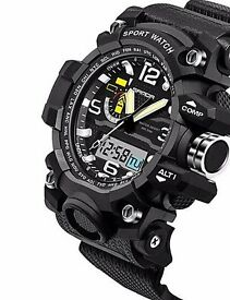 BRAN NEW Watch Men Waterproof Sports Military Watches Shock Men's Analog Quart.watch was £30