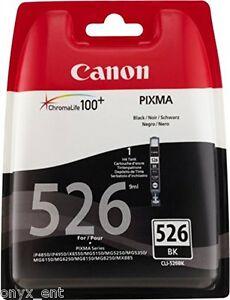 Genuine Canon CLI-526BK Black Ink Cartridge Pixma iP4850 iP4950 iX6550 MG5150