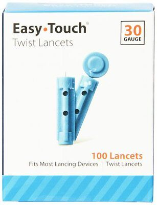 Easy Touch Twist Lancets 30 Gauge 100 Lancets