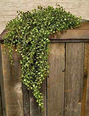 New Country Primitive Baby Pepper Grass Fern Weeping Willow Bush Swag Vine