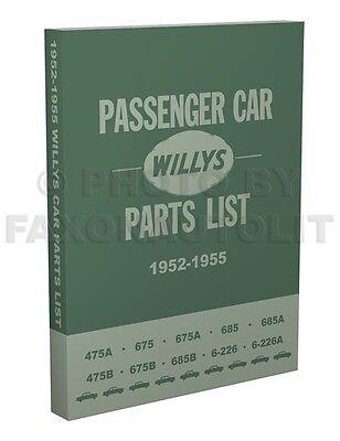 Ace Car Parts (Willys Car Parts Book 1952 1953 1954 1955 Aero Lark Wing Ace Eagle Part Catalog )