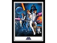 "Star Wars 30 x 40 cm ""A New Hope One Sheet"" Framed Print"
