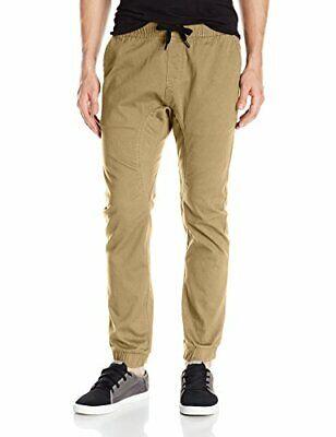 Southpole Men's Basic Stretch Twill Jogger Pants-Reg, Deep K