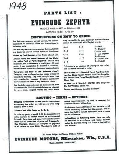 Evinrude Zephyr: Parts & Accessories | eBay