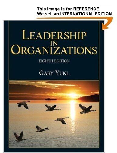 Leadership in Organizations by Gary A. Yukl (Int' Ed Paperback, 2012)8th Ed